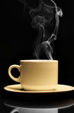 Cup of hot coffee stock photography