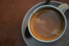 Cup of hot coffee. Americano Stock Photo