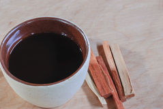 Cup of hot coffee Stock Photo