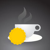 Cup of hot coffee Stock Photos