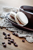 Coffee with macaroons Stock Image