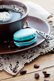 Coffee with macaroons Stock Photos