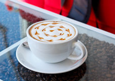 A cup of Hot coffee. Royalty Free Stock Photography