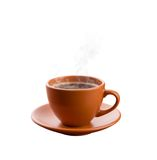 Cup of hot coffee isolated Royalty Free Stock Photography