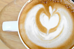 Cup of hot coffee mocca. Cup of hot coffee Hot tasty mocca in white mug Royalty Free Stock Photography