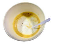 Cup of hot coffee mocca on white background. Cup of hot coffee Hot tasty mocca in white mug Royalty Free Stock Photo