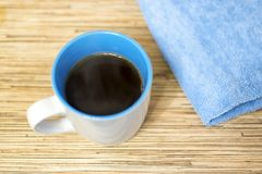 Cup of hot coffee. In the morning Royalty Free Stock Image