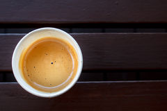 Cup of hot coffee. Royalty Free Stock Photography