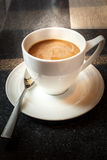 Cup of hot coffee. Royalty Free Stock Photos
