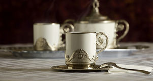 Cup of hot coffee Royalty Free Stock Images