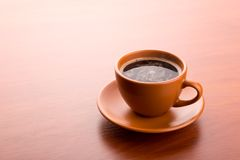 Cup of hot coffee Royalty Free Stock Image
