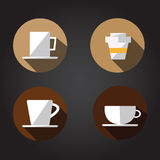 Cup of hot and cold coffee  Royalty Free Stock Photography
