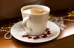 A cup of hot chocolate. royalty free stock photo