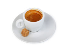 Cup of hot drink with coffee Royalty Free Stock Photos