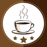 Cup of hot drink - coffee, tea Stock Images