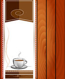 Cup of hot drink - coffee, tea. Royalty Free Stock Photography