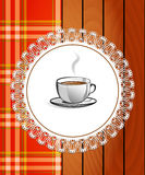 Cup of hot drink - coffee, tea. Stock Images