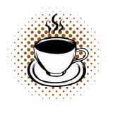 Cup of hot drink comics icon Stock Photo