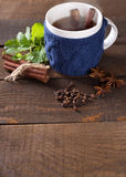 Cup of hot drink Stock Image