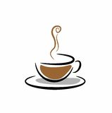 Cup of a hot drink Royalty Free Stock Images