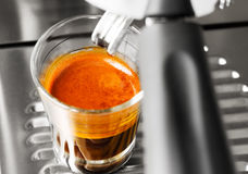 Cup of hot espresso coffee Stock Image
