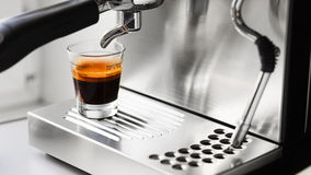 Cup of hot espresso coffee Royalty Free Stock Image