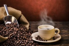 Cup of hot espresso Stock Photography
