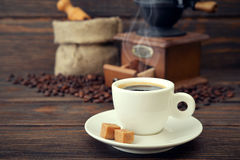 Cup of hot espresso Royalty Free Stock Images