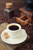 Cup of hot espresso Stock Image