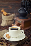 Cup of hot espresso Stock Images