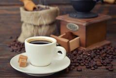 Cup of hot espresso Stock Photos