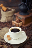 Cup of hot espresso Royalty Free Stock Photography