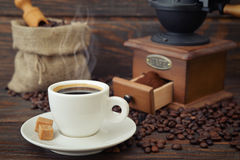 Cup of hot espresso Royalty Free Stock Photos