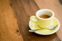 Hot expresso coffee. A cup of hot expresso coffee stock photo