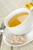 Cup of hot green tea Royalty Free Stock Images