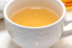 Cup of Hot Green Tea Royalty Free Stock Photography