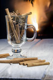 Cup of hot mulled wine Royalty Free Stock Photos
