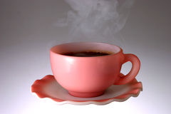 Cup of Hot Steaming Coffee Royalty Free Stock Photos