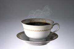 Cup of Hot Steaming Coffee. Hot Coffee royalty free stock images