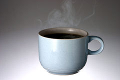 Cup of Hot Steaming Coffee Stock Image