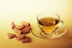 Cup of hot tea Stock Images