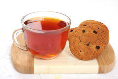 Cup of hot tea and cookies, Royalty Free Stock Image