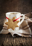 Cup of hot tea and gingerbread Stock Photo