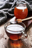 Cup of hot tea ,  honey Royalty Free Stock Photo