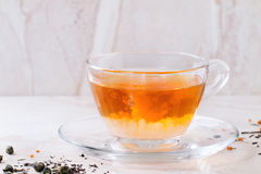 Cup of hot tea with milk Royalty Free Stock Photos