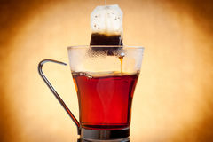 Cup of hot tea with teabag Royalty Free Stock Photography