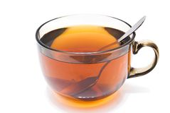 Cup of hot tea on white Royalty Free Stock Photos