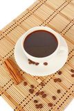 Cup of hot testy coffee Stock Photography