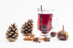Cup of hot wine Stock Photos