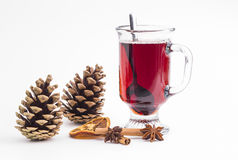 Cup of hot wine Stock Image